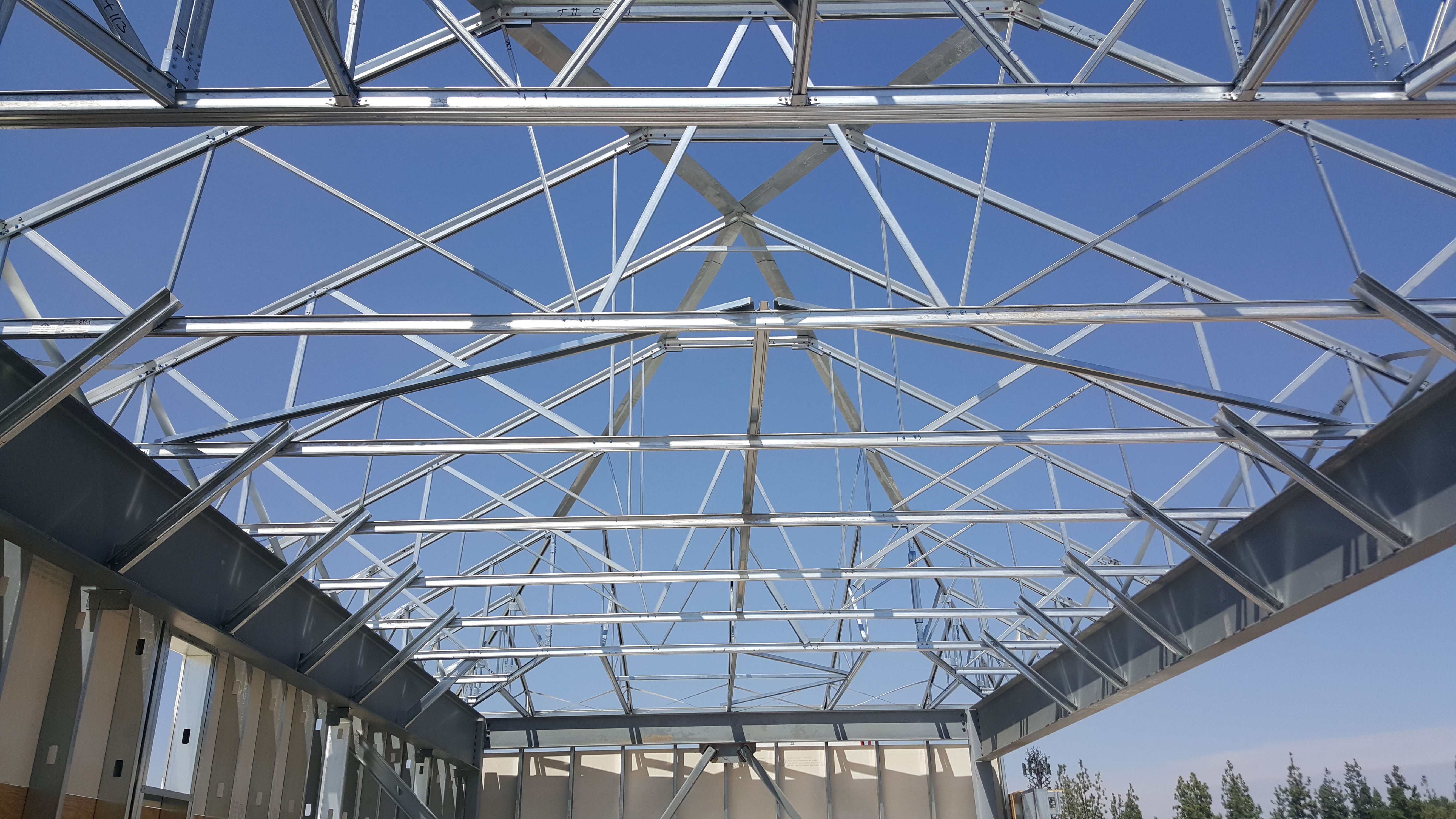 Walmart Metal Trusses 6 West Coast Drywall Construction Inc